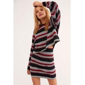Free People Meadowbrook Sweater Skirt Set